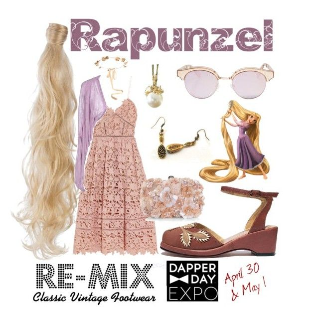 Dapper Day: Rapunzel by remixvintageshoes on Polyvore featuring self-portrait, Just Cavalli, Accessorize, NOVICA, Le Specs, Eugenia Kim, Rapunzel Of Sweden and vintage