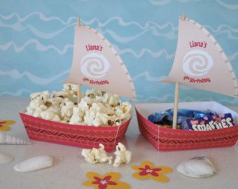 Moana Polynesian cupcake sail toppers and by GlitterInkDesigns