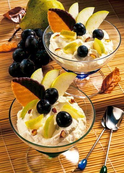 Gesunde Magerquark-Rezepte zum Abnehmen: Quarkspeise mit Früchten ...