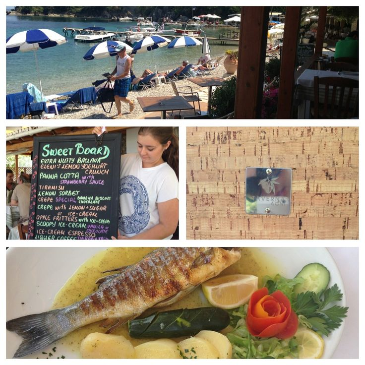 Lunch at #Agni #Taverna is what you need after a dip in the pristine emerald water of #Corfu Island #Greece