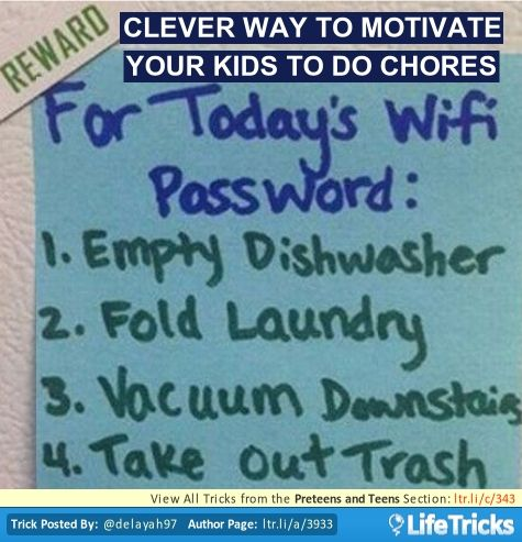 Change the WiFi password daily. Give it to your kids after they have completed their list of chores.
