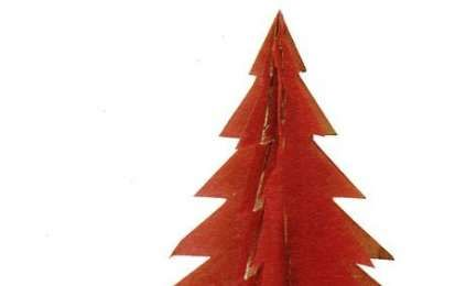 Albero di Natale fai da te tridimensionale - Albero Natale tridimensionale compensato