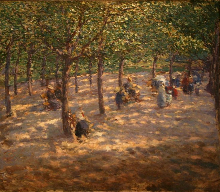 Antonin Slavicek - Letna Park, 1907, oil on canvas