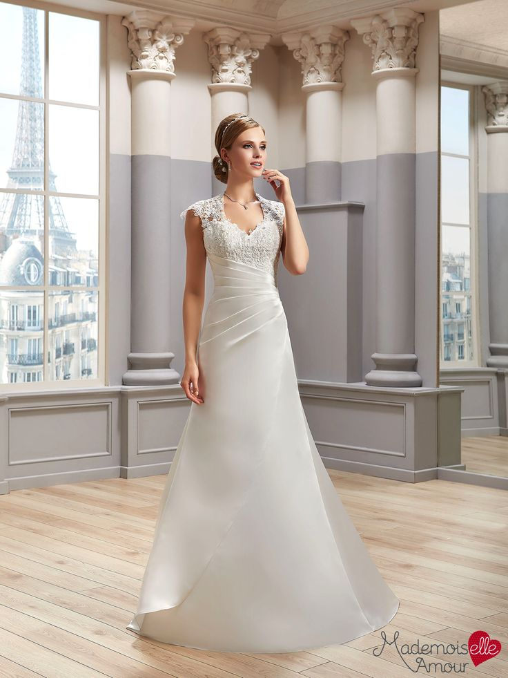 Robe de mariée Mlle Satin, robe de mariée bretelles - Pronuptia