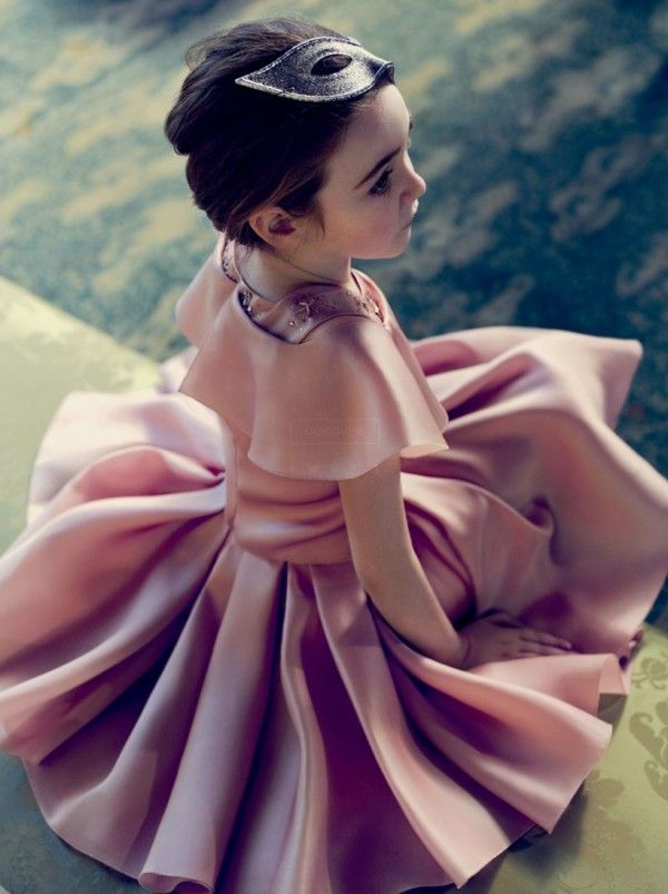 Stunning satin party dress for Holiday 2014 from Baby Dior girlswear. Love it!
