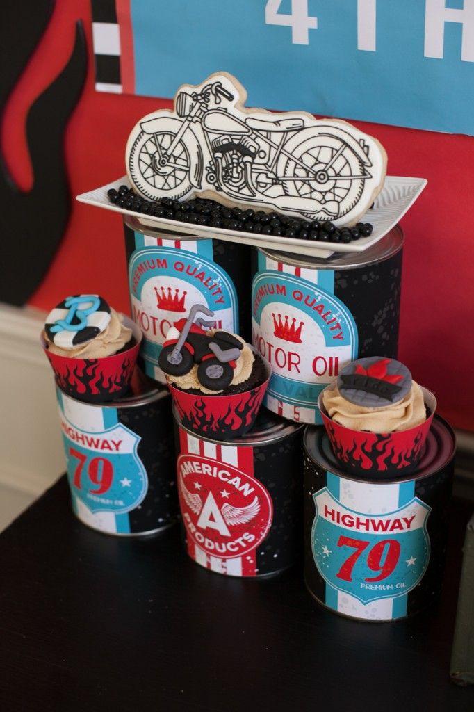 Motorcyle Birthday Party - Desserts