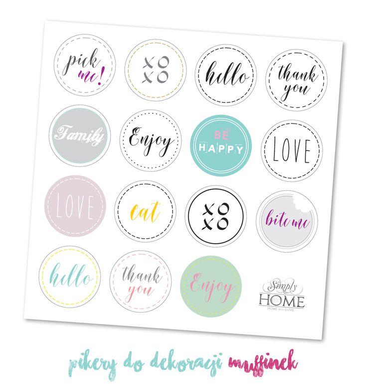 simply about home: Pikery do dekoracji DIY - 18 grafik do druku na każdą okazję