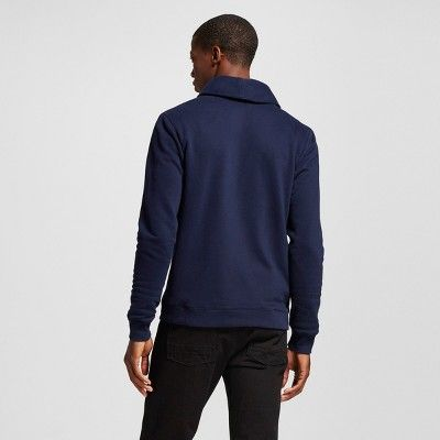 Men's Shawl Collar Cardigan Sweater Navy Xxl - Merona, Blue