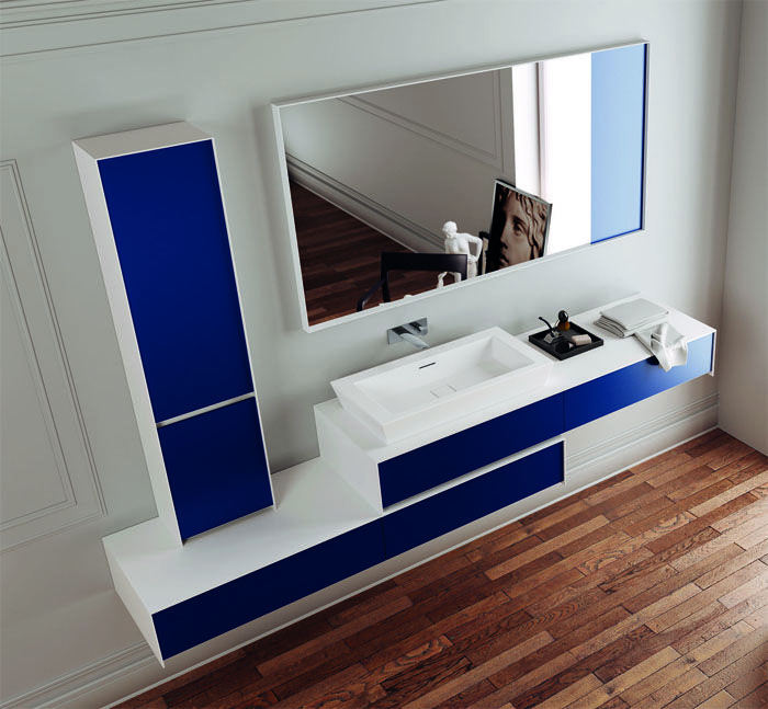 InsideOut #Blue #washbasin. Blue is a very elegant colour? Isn't it?