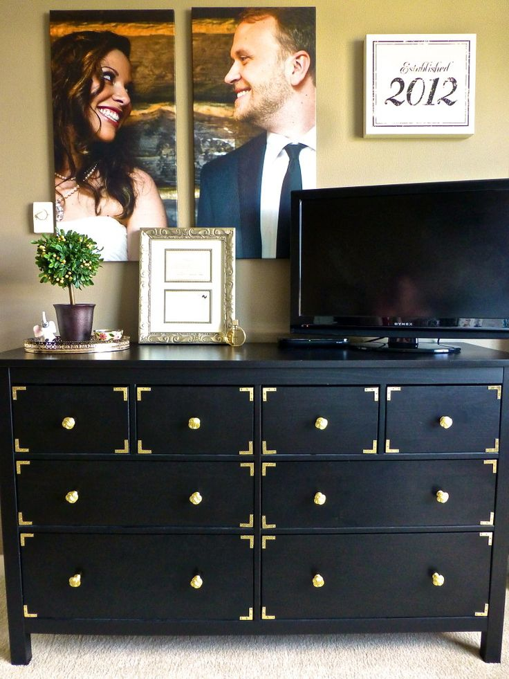 Hacked ikea dresser - we can re-purpose ours into a TV stand and turn the 4 bottom drawers into shelves!