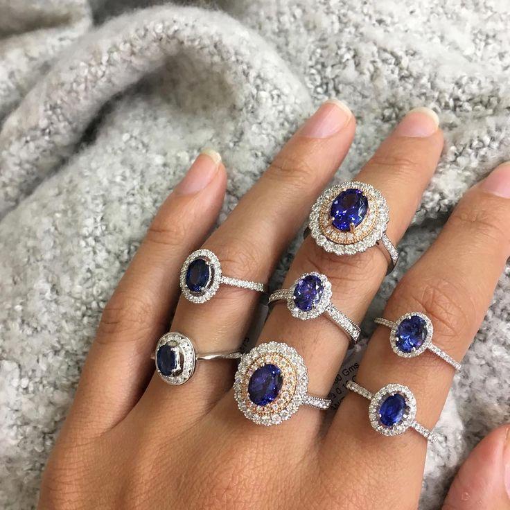 Tanzanite and diamond rings // KL Diamonds