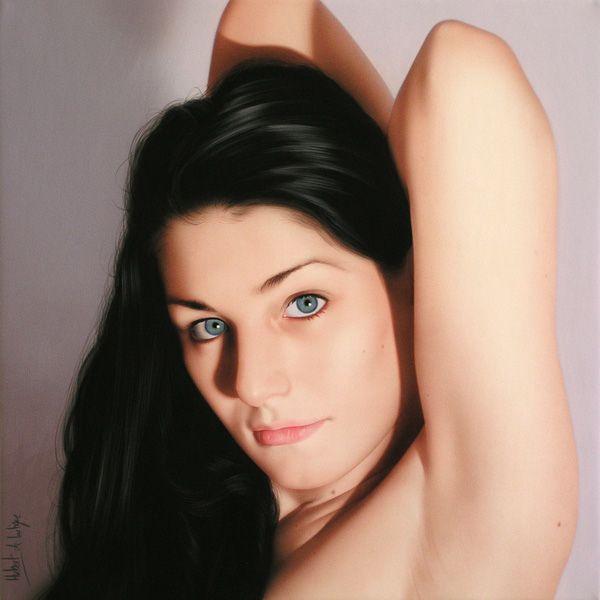25 Hyper Realistic Oil Paintings by Hubert De Lartigue - Luscious Lips and Tongue. Follow us www.pinterest.com/webneel