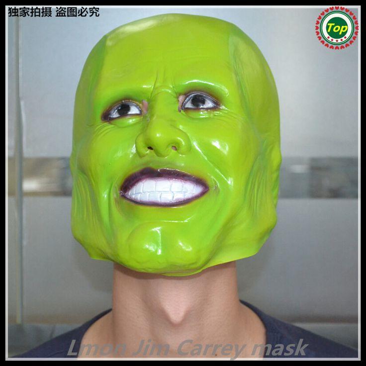 Развлечения фильмотека реплика смола темно-зеленый локи маска джим керри взрослых опора маскарадный костюм хэллоуин косплей
