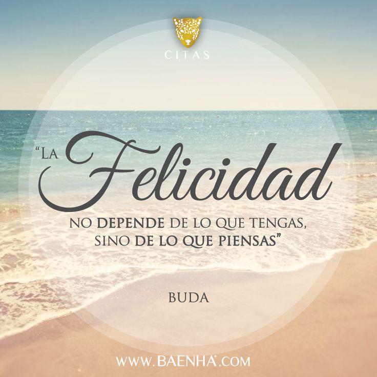 """""""La felicidad no depende de lo que tengas"""" #cita #felicidad"""