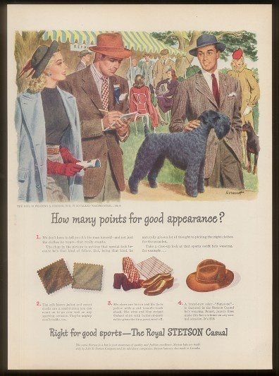 This Stetson ad from 1946 is yet another example of the brilliant ad campaigns that helped sell many a hat.: Ads Pictures, 1946 Ads, Ads Campaigns, Hats Ads, Magazines Ads, Hats 1946, Nostalg Adverti, Stetson Ads, Stetson Hats