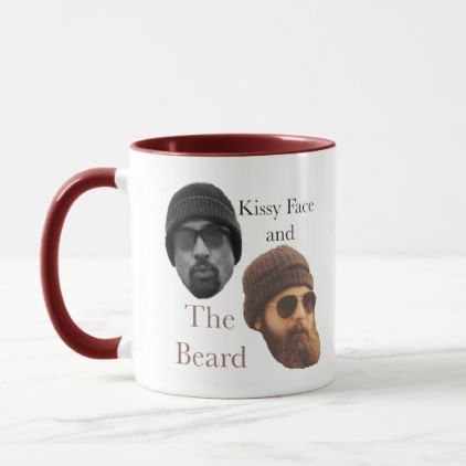 Kissy Face and The Beard Drinking Mug - home gifts ideas decor special unique custom individual customized individualized