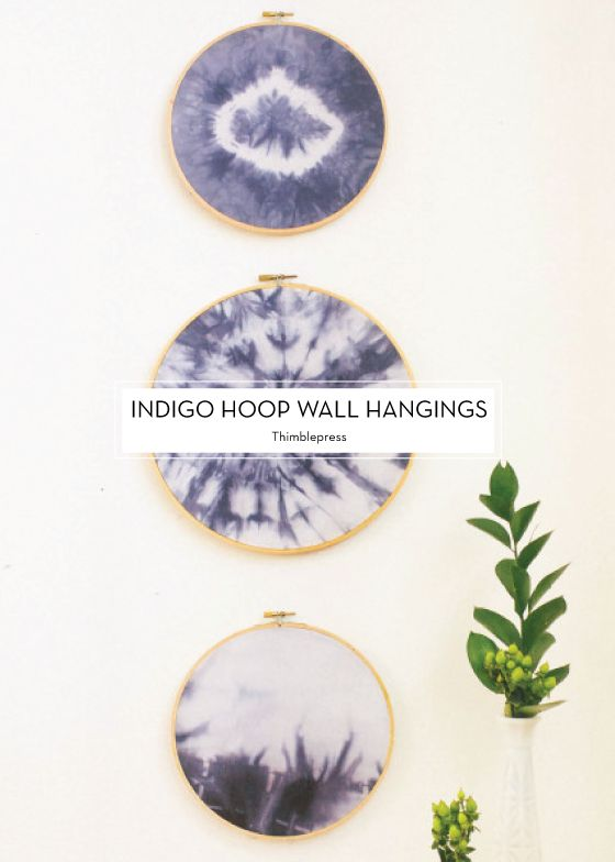 Indigo Hoop Wall Hangings