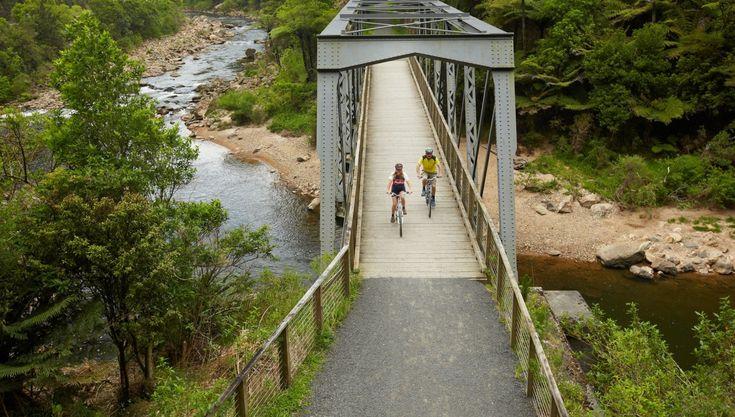 Hauraki Rail Trail - Te Aroha, Paeroa, Waihi, Thames.  A two-day ride.