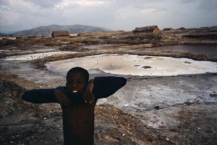 Alex Webb Gonaives. 2000. Salt flats outside the city.