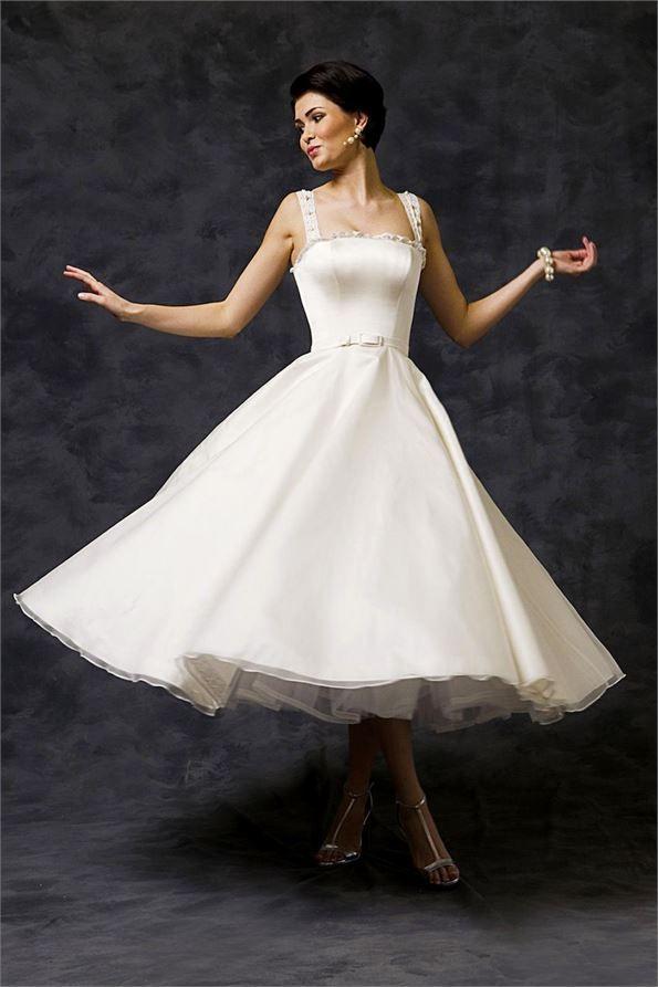 61 best Tea Length Wedding Dresses images on Pinterest   Wedding ...