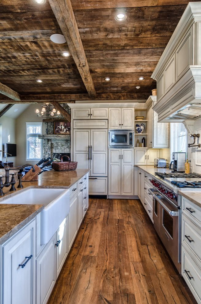Diy Rustic Kitchen Ideas Kitchen Rustic With White Tile Backsplash Mountain House White Cabinets Log Home Kitchens Rustic House Plans Log Home Designs