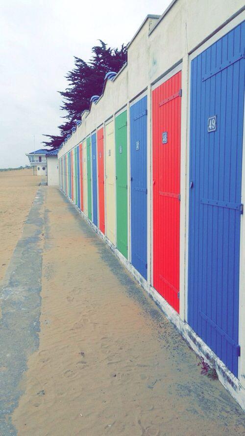 Cabines de plage à Tharon-plage