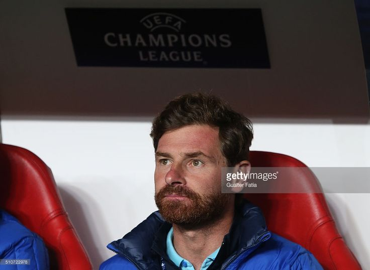 FC ZenitÕs coach from Portugal Andre Villas Boas before the start of the UEFA Champions League Round of 16: First Leg match between SL Benfica and FC Zenit at Estadio da Luz on February 16, 2016 in Lisbon, Portugal.