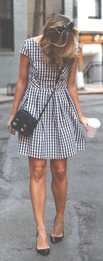 #street #style gingham dress @wachabuy