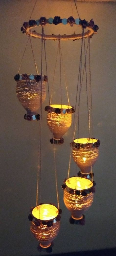 How To Make Decorative Hanging From Bottle Simple Craft Ideas