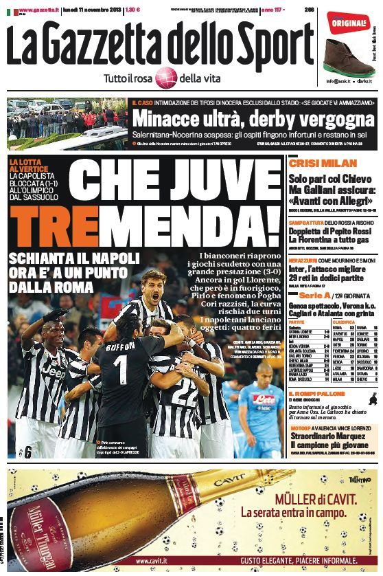La Gazzetta dello Sport (11-11-13) Italian | True PDF | 56 31 pages | 13,23 6,01 Mb