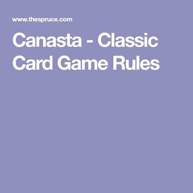 Canasta - Classic Card Game Rules