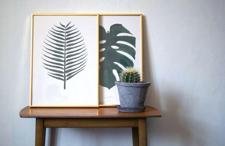 Plant Prints By Garmi - Danish Design - Botanical and nordic. Blog poster by: Julie Mænnchen