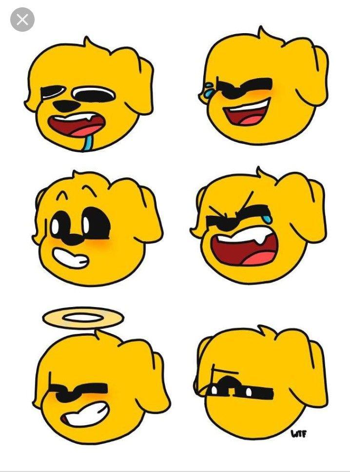 Aqui Los Emojis De Nuestro Perrito Emojis Dibujos Dibujos De