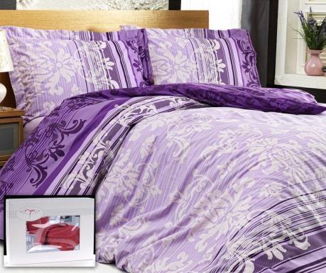 Lenjeria Gorgeous Purple este detaliul care lipsea din dormitorul tau impecabil. Redescopera spectaculozitatea formelor somptuoase, vii, pline de culoare siimprimeulin stil baroc cu accente moderne.100% bumbac ranforceContine:-cearsaf de pat 240 x 260 cm-cearsaf pilota 200 x 220 cm-2 fete de perna 50 x 70 cm