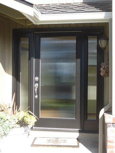Codel Fiberglass Entry Door with sidelites and obscured glass - Signature Window \u0026 Door Replacement & 14 best Codel Fiberglass Doors images on Pinterest | Door ...