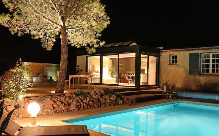 #véranda #conceptalu #extanxia #nuit #jardin  #piscine