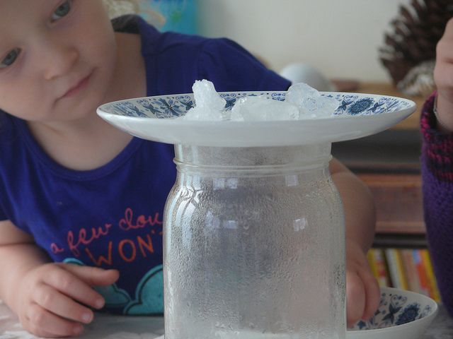 make it rain inside a glass jar!