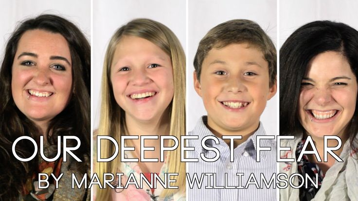"""Our Deepest Fear"" by Marianne Williamson - The Anima Series"
