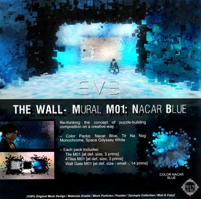 ~ The Wall - Mural MO1: NASCAR Blue by E.V.E.~  Located on Dawn's Promise {Sponsored by The Looking Glass}  http://maps.secondlife.com/secondlife/Dawns%20Promise/164/45/46