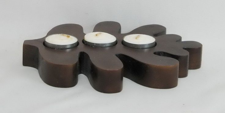 wooden candle holder - Google Search | Wooden Candle ...