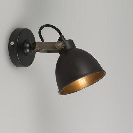 Wandlamp Liko 7 messing - lampenlicht.nl