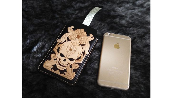 Making film iphone 6 case sleeve carving leather