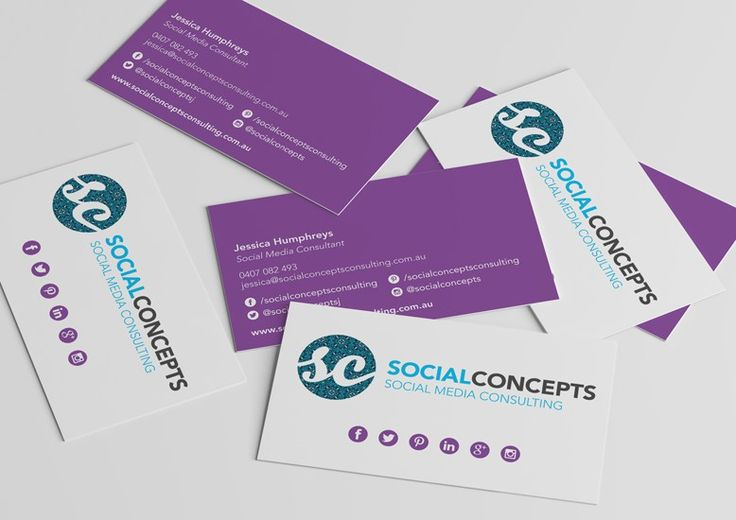 Social Concepts Business Card Design | Graphic Design | Oraco Marketing