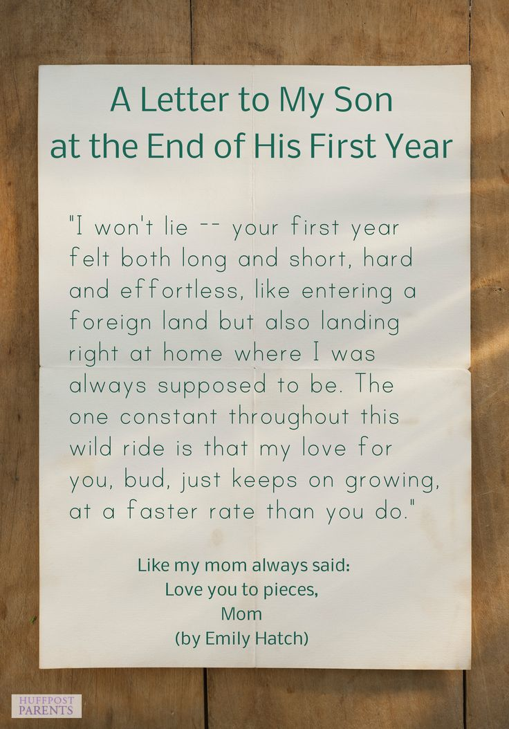 A Letter To My Son At The End Of His First Year