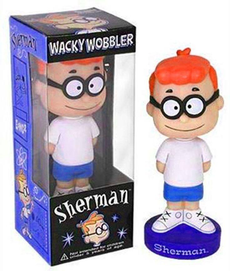Sherman Rocky & Bullwinkle Funko Wacky Wobbler Bobblehead MIB RETIRED Mr Peabody  | eBay