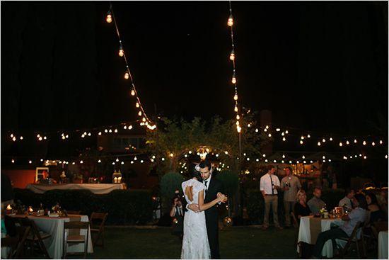 wedding lighting for your backyard