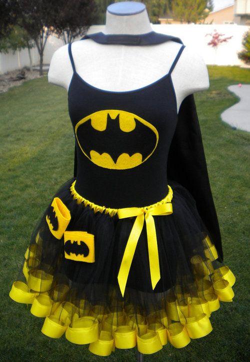 batman tutu | Batman Super Hero Costume Cape Mask Cuffs Tutu by theblackscottie1