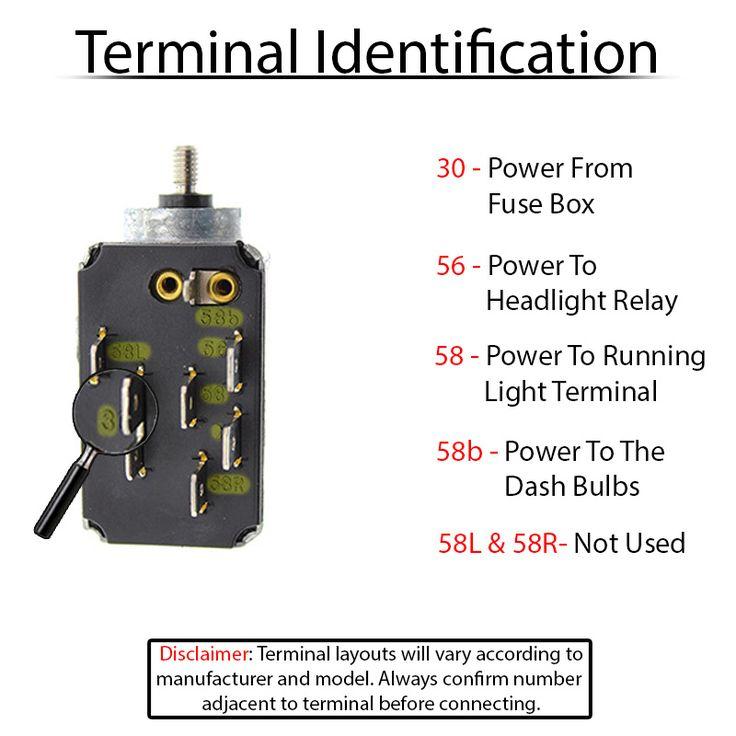 Vw Flasher Relay Wiring Diagram 113941531e Vw Headlight Switch Vw Parts Vw Beetles