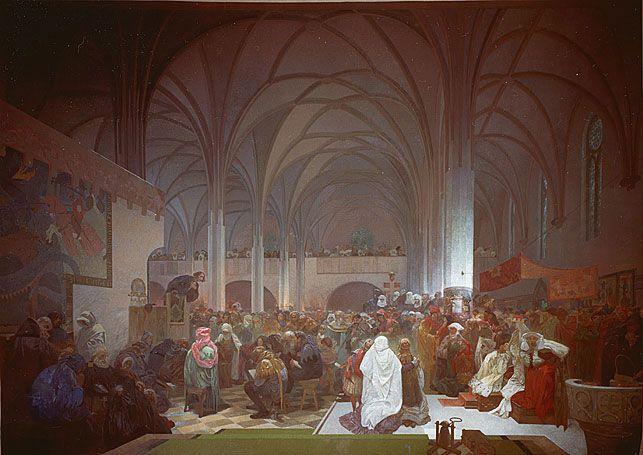 ベツレヘム礼拝堂でのヤン・フスの説教