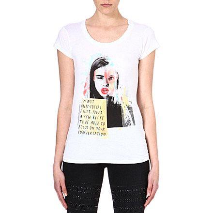 ELEVEN PARIS Cara Delevingne t-shirt (White